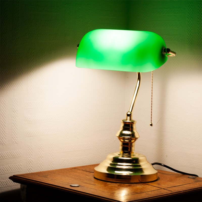 skrivbordslampan